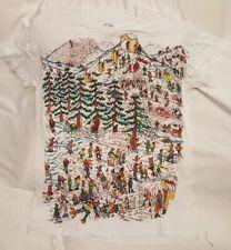 Where's Waldo Ski Scene Sublimation Licensed Adult T Shirt Size L