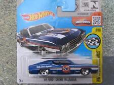 HOT WHEELS 2016 # 183/250 1969 Ford TORINO TALLADEGA BLU velocità IMMAGINI