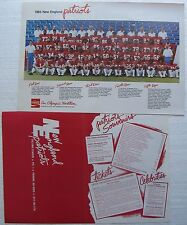 2 1983 New England Patriots Team Poster Folder with Souvenir Price List (11x16)