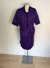 NEW MARKS & SPENCER AUTOGRAPH OCCASIONS PURPLE PENCIL DRESS & JACKET SIZE 18