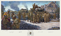 James Dietz Print Signed by Band of Brothers, 2nd AD, & 3rd AD WWII D-day Vets!
