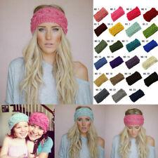Crochet Warm Head Wrap Hat Knitted Turban Woman Ladies Winter Headband Hair Band