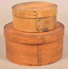Two Pennsylvania 19th Century Bentwood Pantry Boxes