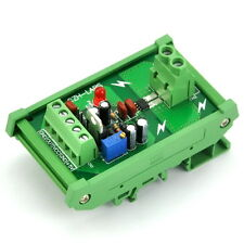 DIN Rail Mount +/-5Amp AC/DC Current Sensor Module, based on ACS712