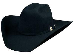 New Bullhide KINGMAN 4X Premium Wool Cowboy Hat. Color: Black