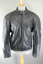 FRANK THOMAS BLACK LEATHER BIKER JACKET WITH SHOULDER & ELBOW KNOX CE ARMOUR 42""