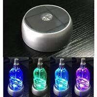 3D Crystal Glass Laser LED Battery Electric Light Up Round Base Gif Display V9V4