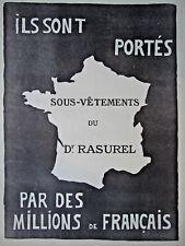 PUBLICITÉ PRESSE 1919 SOUS-VÊTEMENTS Dr RASUREL PORTÉS PAR DES MILLIONS FRANÇAIS