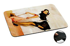 677 Vintage Pin up Girl Anti-slip Mousepad Mouse Pad For Macbook PC Laptop-3MM