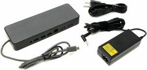 HP USB-C Universal Docking Station HSA-B005DS Dock USB-C Dual DP 4K +AC Adapter