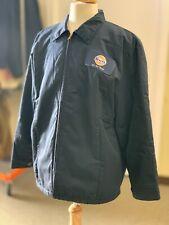 "Navy Blue Cotton shell ""Ike"" style ""Gulf"" Gas Work Jacket  - Large"