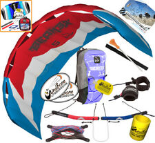 HQ Beamer VI 5M Kite Quad Handle 4-Line Foil Power Traction Buggy Jumping +Kite