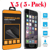 5PCS Premium Real Screen Protector Tempered Glass For iPhone 6 6s 7 7 Plus