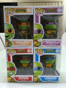 Funko Pop Vinyl TMNT Ninja Turtles Michelangelo Donatello Raphael Leonardo