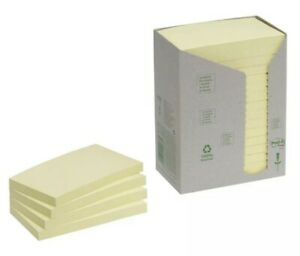Post-it Note Recycled Tower Pack 76x127mm Yellow Pack of 16) 655-1T
