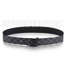Louis Vuitton Belt LV Initiales 40 MM Damier Graphite Mens Size 85cm 34in M9808V
