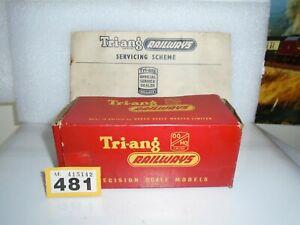 TRIANG  R-52S  BR BLACK JINTY 0=6=0 TANK   LOCO BOX    ONLY/ Y/481