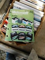 1986 MOTORCRAFT BATTERIES MASTER PARTS CATALOG MANUAL W APPLICATIONS LIST