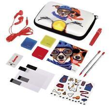 Hama Nintendo 3DS XL Tasche 13in1 Zubehör Paket Dog Set New Schutz Folie + Stift
