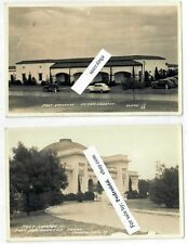 2 1940's WW2 Fort Sam Houston TX Vintage RPPC Postcard Chapel Exchange PX NOS