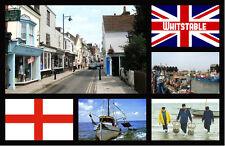WHITSTABLE, KENT, UK - SOUVENIR NOVELTY FRIDGE MAGNET - SIGHTS / FLAGS GIFTS