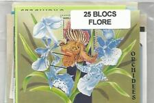 "Lot de 25 blocs thematique "" Fleurs"""