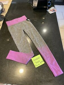 Womens Purple / Grey Sport Compression Fitness Leggings Run Gym Yoga Pants Viks