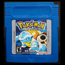 Game Cards For Nintendo Pokemon GBC  Blue Version Gameboy Pikachu Edition Gifts