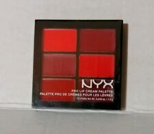 NYX Pro Lip Cream Palette PLCP03 The Reds New Factory Sealed 6 Panel Palette
