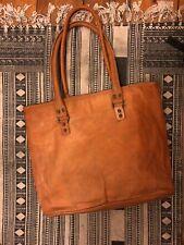 Handmade 100% Genuine Tan Leather Handbag. Perfect Condition. Never Used.