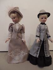 2 Porcelain Dolls with Movable Limbs (arms, legs and head).