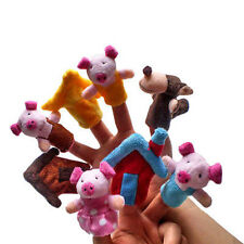 Finger Puppets Educational Hand Toy Kids Story Three Little Pigs Finger Dolls C&