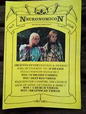 Necronomicon Issue No 3 -  RARE 1993 UK A4 CULT CLASSIC HORROR FANZINE MAGAZINE
