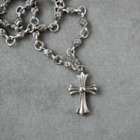 CH Style Cross Pendant Necklace 316L Stainless Steel Gothic Punk Biker Necklace
