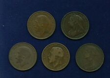 "ENGLAND ""PENNY"" COINS: 1887, 1898, 1918-H, 1919, & 1919, GROUP LOT OF (5)"
