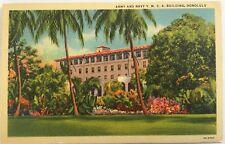 Army & Navy YMCA T.H. Downtown Honolulu postcard cir. 1940's 1955 postmark