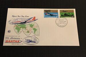 Australia * 1970 Fdc WCS 50th Anniversary Of Qantas