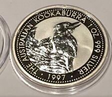 1997 Australian Kookuburra Proof Coin Gem 1 Troy Oz .999 Fine Silver Perth Mint