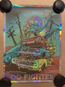 Dan Dippel FOO FIGHTERS SYRACUSE RAINBOW AP Signed Numbered Poster Print #/60