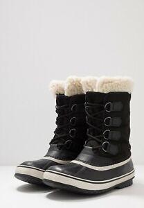Sorel Winter Carnival Womens Ankle Snow Boots Waterproof in Black Stone, Size 5