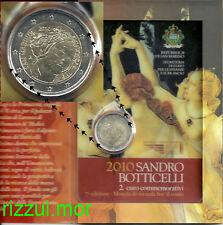 2 EURO 2010 SAN MARINO 500th MORTE di SANDRO BOTTICELLI in folder ufficiale!!!