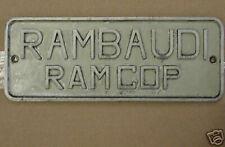 Rambaudi Ramcop Duplicator ___ NAMEPLATE ___ NAME PLATE