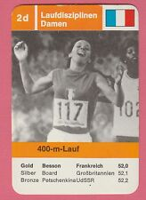 German Trade Card 1968 Olympics 400m Gold Medal Winner Colette Besson France