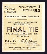 1949 FA Cup Final LEICESTER CITY v WOLVES *Excellent Condition Ticket*