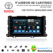 """9"""" IPS  Android 7.1 Car Radio DVD Stereo Player GPS for TOYOTA Sienna 2012~2014"""