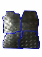TAILORED RUBBER CAR MATS WITH BLUE TRIM FOR VAUXHALL CROSSLAND X (2017 ONWARDS)