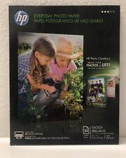 "HP Everyday Photo Paper - Glossy Brillante - 25 sheets - 8.5"" x 11"""