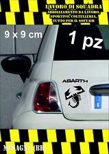 adesivo adesivi abarth stickers tuning scorpione auto fiat 500 scooter moto NERO