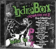 """RARO 2 CD PUNK ITALIANO FUORI CATALOGO """" INDIEBOX COMPILATION VOL.2 """""""
