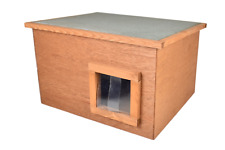 Feral Stray Outdoors Cat House Kennel With Thermal Barrier Flap Shelter Cat Den